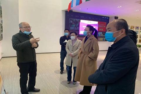 河南省委统战部副部长梁险峰一行领导莅临简信软件视察